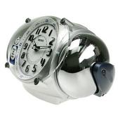 SEIKO 精工 滑動式秒針大聲公鬧鐘 大音量鬧鈴 滑動式秒針 銀色 QHK043S【時間玩家】