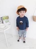 長袖上衣 兒童長袖T恤男新款寶寶寬鬆韓版上衣男童印花時尚打底衫 童趣潮品