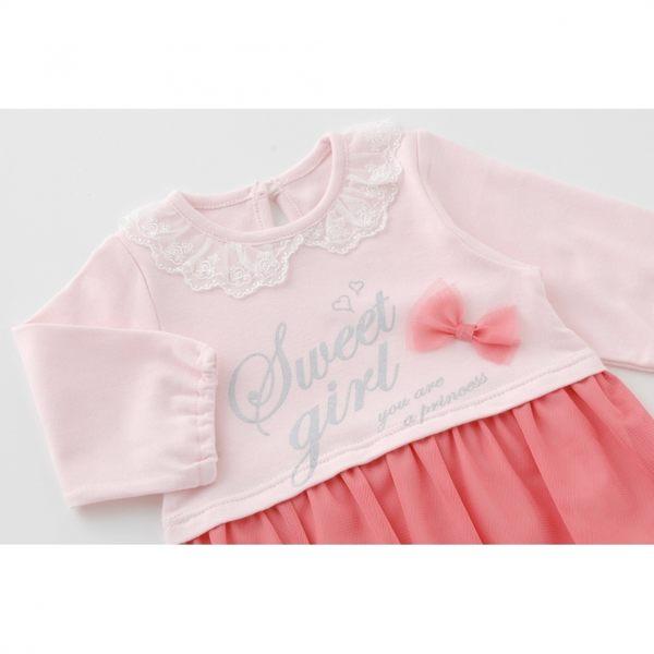 Nishiki Sweet girl 長袖紗裙蝴蝶結洋裝 P2399 (三色)