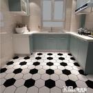廚房衛生間地板貼紙防水自粘廁所防滑浴室裝飾地面瓷磚地貼厚耐磨 Korea時尚記