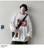 新款男士衛衣秋季ins慵懶風潮流寬鬆長袖上衣個性印花運動套頭衫 韓國時尚週