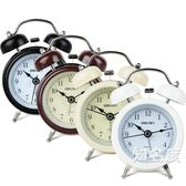 鬧鐘 靜音學生創意床頭簡約時尚多功能電子帶夜燈金屬打鈴鬧鐘鬧鈴 4色
