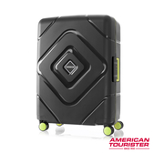 AT美國旅行者 24吋Trigard 菱格設計PP三點式扣鎖飛機輪行李箱(黑)