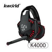廣寰 Kworld 玩家級電競耳麥 K4000-BR-黑紅