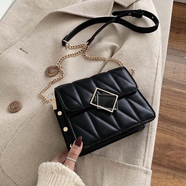高級感包包女2021新款潮斜挎包百搭ins鏈條小方包時尚簡約單肩包 【夏日新品】