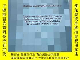 二手書博民逛書店Introductory罕見Mathematical Analysis for Business,Econmics
