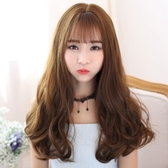 整頂假髮(長髮)-日韓齊瀏海逼真女假髮3色73ef11【時尚巴黎】