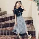 兒童套裝女套裝夏天女童洋氣半身裙夏裝2020新款韓版公主紗裙 KP1515【花貓女王】