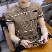 男士夏季韓版短袖t恤潮流個性修身打底衫半截袖上衣服冰絲體恤衫『新佰數位屋』