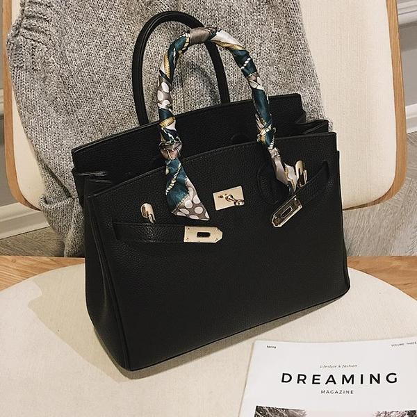 高級感洋氣質感包包女2021新款潮韓版百搭側背斜背時尚手提凱莉包 伊蘿