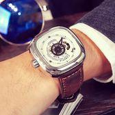 交換禮物-卡羅蒂夫正品陀飛輪手錶潮流男錶全自動機械錶鏤空方形大錶盤腕錶