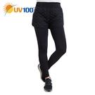 UV100 防曬 抗UV 保暖刷毛舖棉兩件式律動褲-女
