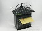 小型家用鐵質帶鎖復古信箱意見箱投訴箱信報箱室外防水掛牆   大宅女韓國館韓國館