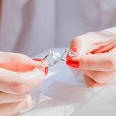 戒指 人魚泡沫小眾設計戒指女純銀網紅學生個性開口可調節中指食指戒指 夢幻衣都