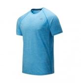 New Balance MEN PERFORMANCE 男款藍色運動服飾上著-NO.AMT81095VSB