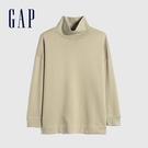 Gap女裝 碳素軟磨系列 純色高領長袖 591859-卡其色