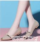 平底單鞋2021春夏季新款尖頭平底春款平跟孕婦百搭瓢鞋單鞋女鞋子 迷你屋 618狂歡