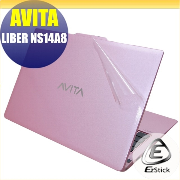 【Ezstick】AVITA LIBER NS14 A8 二代透氣機身保護貼(含上蓋貼、鍵盤週圍貼、底部貼)DIY 包膜