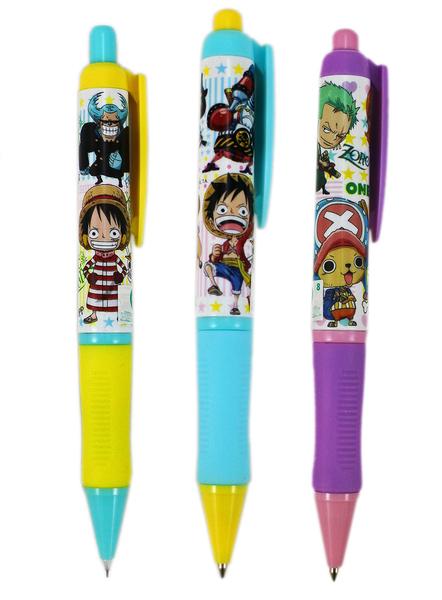 【卡漫城】 One Piece 自動鉛筆 + 原子筆 三支組 ㊣版 海賊王 航海王 喬巴 娜美 魯夫 香吉士 台灣製