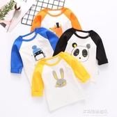 男童長袖上衣-寶寶長袖純棉T恤衫春秋衣打底衫上衣服薄款秋裝男童女童嬰兒童裝 多麗絲