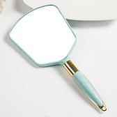 化妆镜 高清手柄化妝鏡手拿美容院化妝鏡子便攜隨身牙科復古花邊單面小鏡 交換禮物