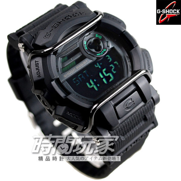 G-SHOCK GD-400MB-1 CASIO卡西歐 人氣大錶徑多功能電子錶 霧面黑 GD-400MB-1DR
