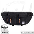 Herschel 腰包 黑色 單肩雙口袋側背包 Eighteen-001 MyBag得意時袋
