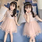 女童連身裙女孩公主裙兒童洋氣裙子