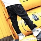 男童牛仔褲加絨兒童褲子秋款2020新款加厚中大童男孩洋氣一體絨褲 美眉新品