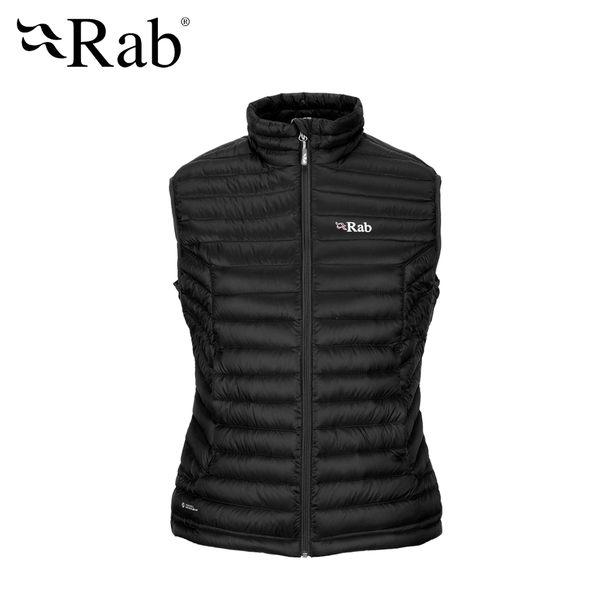 [抗水羽絨]英國RAB Microlight Vest羽絨背心 女款 黑色 #QDA58