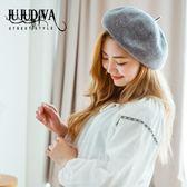 (超夯免運)秋冬保暖正韓時尚純色貝雷帽女帽子潮畫家帽毛呢蓓蕾帽