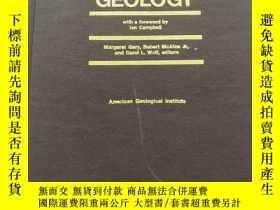 二手書博民逛書店GLOSSARY罕見OF GEOLOGY 【地質辭典,第2次徵訂