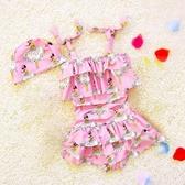 韓版女童連體泳衣女孩卡通公主裙式兒童泳裝2-3-4歲女寶寶游泳衣