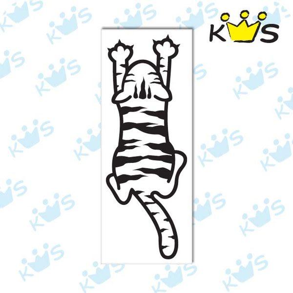【浮雕貼紙】貓爬牆 # 壁貼 防水貼紙 汽機車貼紙 2.3cm x 6.4cm