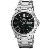 【CASIO】 時尚休閒星期日期顯示指針錶-羅馬黑面(MTP-1239D-1A)