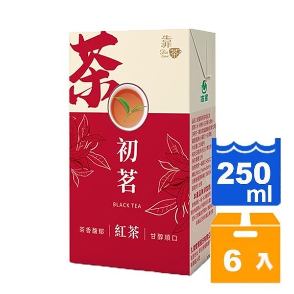 靠茶初茗紅茶250ml(6入)/組 【康鄰超市】