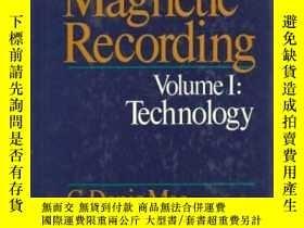 二手書博民逛書店Magnetic罕見Recording: Volume I - TechnologyY307751 C. De