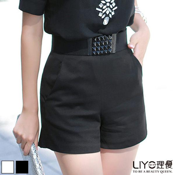 LIYO理優高腰修身短褲621015
