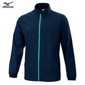 MIZUNO Slim FIT 男裝 外套 套裝 立領 平織 4WAY彈性 合身版型 深丈青【運動世界】32TC008614