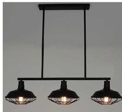 設計師美術精品館特賣 RH Loft 北歐複古工業吊燈 三頭吧台餐廳鐵藝創意餐桌吊燈