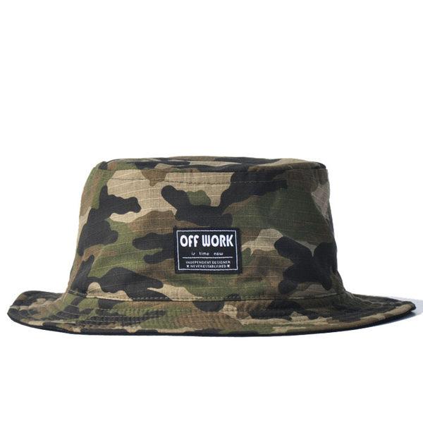 休閒雙面戴盆帽 綠色迷彩叢林漁夫帽盆帽遮陽帽男女