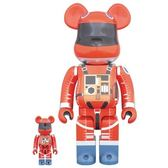 Poco+玩具部 全新 BEARBRICK Be@rbrick 400%+100% SPACE SUIT ORANGE 橘色 太空裝