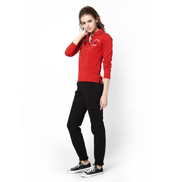 【JEEP】女裝美式印花POLO衫 (紅色)