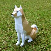 正版匠紙_DIY材料包_手作3D紙模型_柴犬_刀模版免折免剪真好作