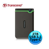 Transcend 創見 StoreJet 25MC 2TB 鐵灰 USB3.1 Type-C 2.5吋 外接硬碟 TS2TSJ25MC