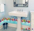 壁貼【橘果設計】小魚 DIY組合壁貼 牆...