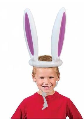 [協貿國際]  兒童充氣兔子套圈圈玩具幼兒園戶外投擲運動道具 (1入)
