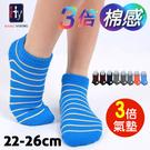 【衣襪酷】3倍棉感氣墊船襪 毛巾底 台灣製 HANG YOUNG