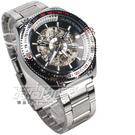 Wilon 潮男 時尚機械腕錶 男錶 防水手錶 鏤空 機械錶 造型錶 W2060白