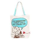 CR14044【日本進口正版】史努比 Snoopy 帆布 肩揹提袋 手提袋 肩背包 PEANUTS - 140447